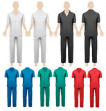 Set of work overalls. Design template. Vector illustration Stock Photos