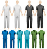 Set of work overalls. Design template. Vector illustration Royalty Free Stock Photo