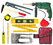 Set of work tools Royalty Free Stock Images