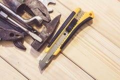 Set of work tools Royalty Free Stock Photos