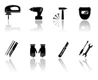 Set of worker equipment icons Stock Photography