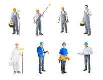 Set of workers Royalty Free Stock Image