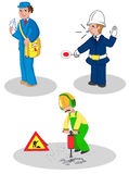 Set of workers man vector Stock Images