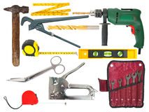 Set of working tools Royalty Free Stock Photos