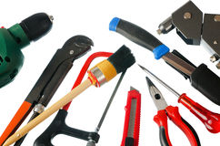 Set of working tools Stock Photo