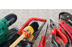 Set of working tools Royalty Free Stock Image