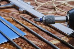 A set of working tools for doing household chores stock photo