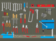 Tools in workshop Royalty Free Stock Image