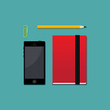 Set of workspace objects Royalty Free Stock Image