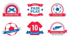 Set of World Cup 2018 badges royalty free illustration