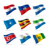 Set of world flags 10 Stock Photo