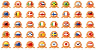 Set of world flags Stock Photo