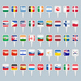 Set of world flags Royalty Free Stock Images