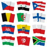 Set of world flags Stock Image