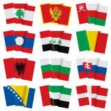 Set of world flags Stock Photos