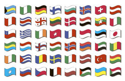 Set of world flags Royalty Free Stock Image