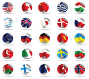 Set of world flags icons. Royalty Free Stock Photography