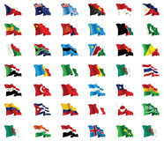 Set of world flags icons. Royalty Free Stock Images