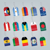 Set of world flags Stock Photos