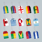 Set of world flags Royalty Free Stock Photos