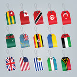 Set of world flags Stock Photography