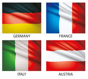 Set of world flags 2 Royalty Free Stock Images
