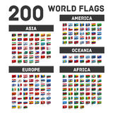 Set of world flags Stock Images