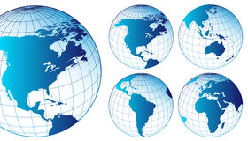 Set of world maps Stock Image