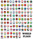 set of  world most important flags Royalty Free Stock Photos