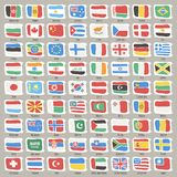 Set of World States Flags Royalty Free Stock Image