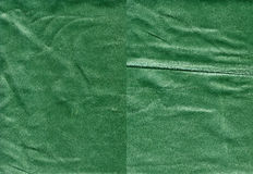 Set of worn green leather textures Royalty Free Stock Images