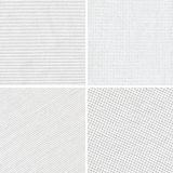 Set of woven white fabric texture Stock Image