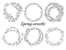 Set of wreaths Royalty Free Stock Photography