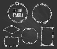 Set of wreaths and frames with place for your text. Royalty Free Stock Photography