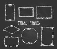 Set of wreaths and frames with place for your text. Stock Image