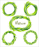 Set of wreaths Stock Photography