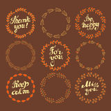 Set of wreaths Stock Images