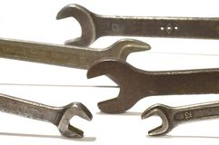 Set of wrench royalty free stock photos