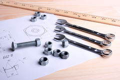 Set of wrenches Royalty Free Stock Photos