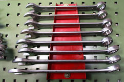 Set of wrenches Royalty Free Stock Photo