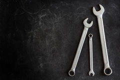 Set of 3 wrenches Stock Photography