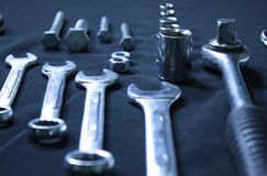 Set of wrenches Stock Photography