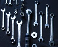 Set of wrenches Royalty Free Stock Images