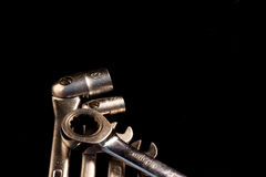 Set of wrenches,selective focus, voluntary blur Royalty Free Stock Image