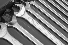 Set of wrenches tool Royalty Free Stock Photos