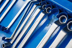 Set of wrenches tool Royalty Free Stock Images