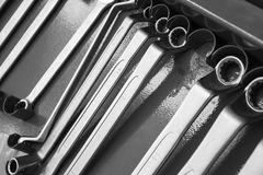 Set of wrenches tool Stock Photo