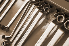 Set of wrenches. Tool for auto repair Stock Images