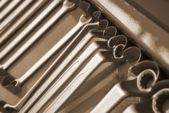 Set of wrenches tool. For auto repair Royalty Free Stock Image
