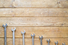 Set of wrenches Stock Photos